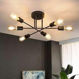 Lámpara de techo vintage Retro 6 bombillas