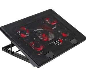 """Base refrigeradora gaming PC 17.3"""" (5 ventiladores y 2 USB)"""