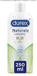 250 ml Durex Naturals H2O Lubricante Base Agua, 100% Natural Sin Fragancia, Colorantes ni Agentes Irritantes
