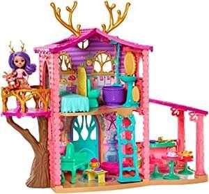 Enchantimals - Casa Danessa con muñeca Danessa y mascota, casa de muñeca con accesorios (Mattel GW90)