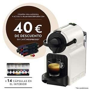 Cafetera Krups Nespresso Inissia + 20€ en cápsulas + 40€ de descuento por suscripción a pedido mensual