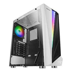 Mars Gaming MCLW, caja PC ATX, cristal templado, BLANCA