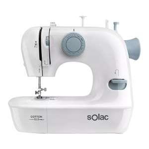 Maquina de coser - Solac Cotton 12.2 SW8221, Automtica, 7.2W, 2 velocidades, Prensatelas, Blanco