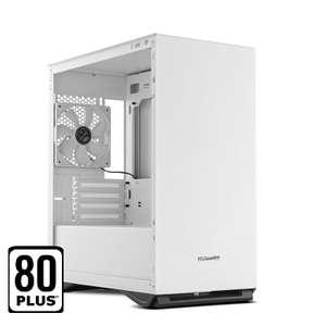 NOX Hummer Zero Core White Edition + Fuente de Alimentación 450W Plus White