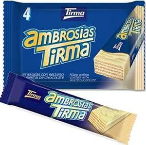 Tirma Ambrosías Blanco, Chocolate, 4 Unidades X 21.5 G