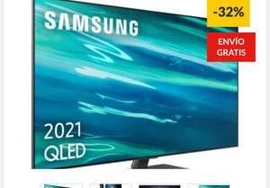 TV SAMSUNG QE55Q80A (QLED - 55'' - 140 cm - 4K Ultra HD - Smart TV)