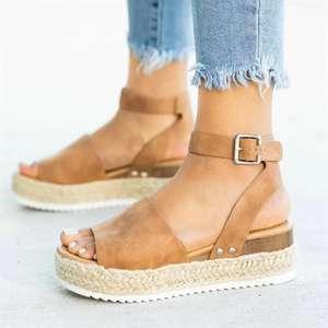 Zapatos de cuña para mujer tallas 35-43