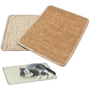 Pack de 2 alfombras rascadoras para gatos.