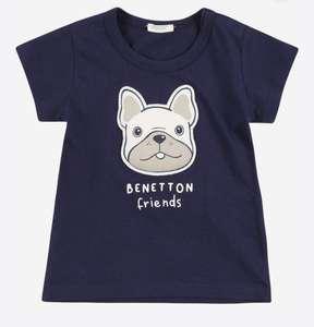 Camiseta UNITED COLORS OF BENETTON bebés tallas cm. 50, 56 y 62.