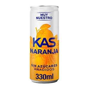 Lata KAS Zero Naranja 330 ml - Refresco de Naranja sín Azúcar por sólo 0,37€