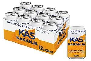 Kas Naranja Zero, Refresco 330 ml - 24 latas/22 cts c/u