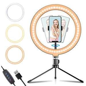 "10"" Selfie LED Ring Light con Soporte de trípode Ajustable"