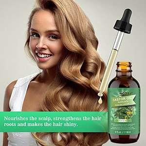 Aceite de Ricino 100% Puro. Estimula el Crecimiento del Cabello, las Pestañas y las Cejas, la Barba, las Uñas