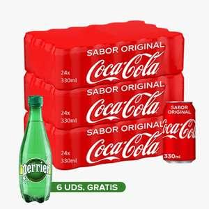 Coca Cola Original – Pack De 72 Latas De 33 Cl + 6 uds. Agua Perrier Gratis