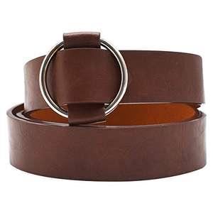 Cinturón hebilla redonda, PU Cuero Casual Señoras