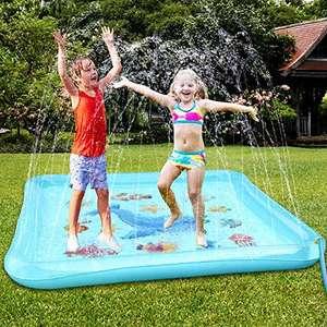 Tapete grande con chorros de agua para el jardín 170 x 170cm