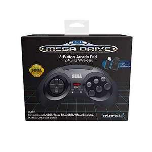 Mando Retro-Bit Wireless 8 botones Sega Megadrive