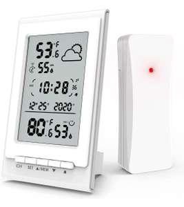 Estación Meteorológica digital con Sensor de Radio,Pronóstico del Tiempo, Fecha/Hora/Alarma/Snooze,3Canales