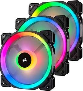 Corsair LL120 RGB Ventilador de PC (120 mm, Doble Halo RGB LED PWM) Paquete Tripla con Lighting Node PRO