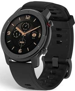 Amazfit GTR 42 Smartwatch con frecuencia cardíaca y seguimiento actividad 42mm batería 12 días AMOLED 12 modos deportes