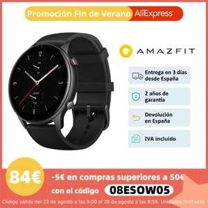 Amazfit GTR 2e,Smartwatch,Reloj inteligente,Control del ritmo cardíaco,Pantalla de AMOLED,5 ATM,para Android IOS,gran batería