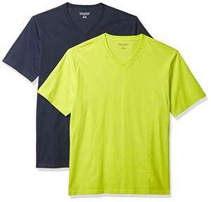 Amazon Essentials - Camisetas (2) de manga corta, cuello de pico.