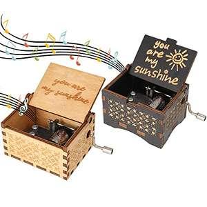 2 x Cajas de Música con Manivela.