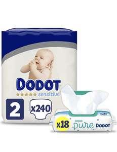 240 pañales Dodot + 18 paquetes toallitas