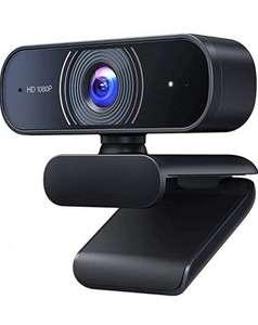 Roffie Webcam Full HD 1080p Video Web CAM Dual Micrófono Integrado PC portátil Escritorio cámara USB