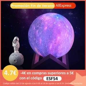 Lámapara LED en forma de Luna por 4,67 €