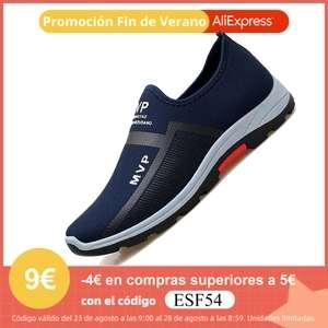 Zapatillas ligeras sin cordones   Color negro talla 38 por 1,54 €   Resto tallas y colores por 9,39 €