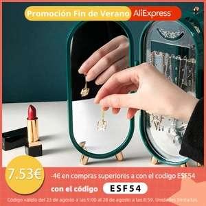 Soporte de Almacenamiento de Joyas estilo Retro con Espejo
