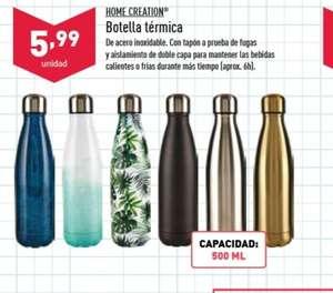 Botella térmica de acero inoxidable 500 ml (DESDE EL SÁBADO 28)