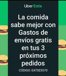Tus proximos 3 envios gratis en Uber Eats