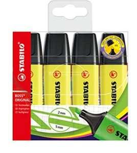 Set 4 rotuladores fluorescentes Amarillos