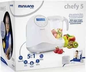 Miniland - Robot de Cocina Chefy 5 en 1 + Libro Recetas Digital (Dto. Al Tramitar)
