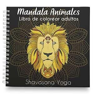 Mandalas, libro de colorear para adultos de animales