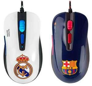 Ratón Mars Gaming MMBC Oficial FC Barcelona o Real Madrid ergonómico PC/PS4/PS5/XBOX