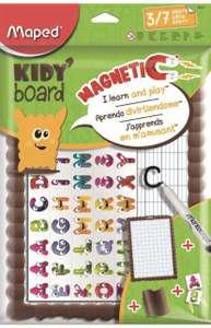 Kit de pizarra magnética rotulador, 1 paño, 40 imanes alfabeto maped