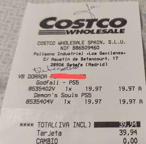 Godfall y Demon,s Soul a 19'97€ en el Costco de Sevilla
