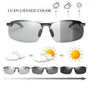 Gafas de sol de conducción fotocromáticas con lentes polarizadas