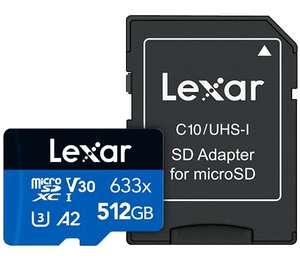 MicroSD 512GB Lexar por 50€ (45€ Prime Student)
