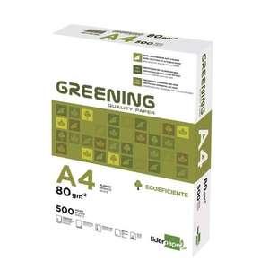 3x Paquetes de 500 folios Liderpapel Greening por 6€ (2€/paquete)