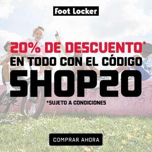 Solo HOY 20% de descuento en TODO en Foot Locker