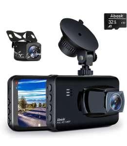 Doble Cámara de Coche delantera y trasera Full HD 1080P con Tarjeta de 32GB