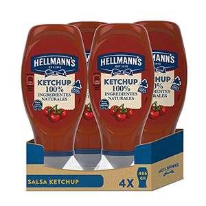 Pack 4 ketchup Hellmann's boca abajo