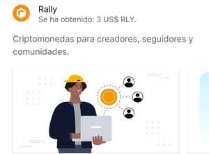 3$ gratis en Rally con Coinbase
