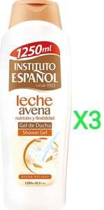 3 x Gel de baño Instituto Español leche avena 1250 ML (total 3750ml) - otro olor en descripción