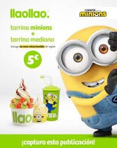 Tarrina Minions + tarrina mediana + vaso coleccionable por solo 5€