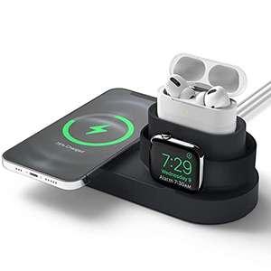 Estación Inalámbrica 3 en 1 Compatible con iPhone 12, Pro, Pro MAX, Mini, Compatible con AirPods Pro